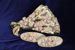 結城紬と着物の生地を使った作品