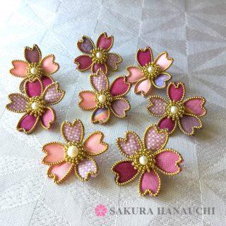 大島紬の桜