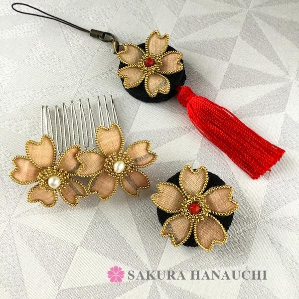 結城紬の桜の作品