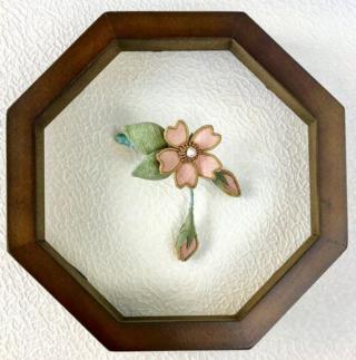 桜の額飾り