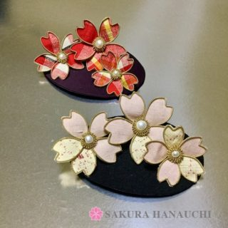 結城紬の桜