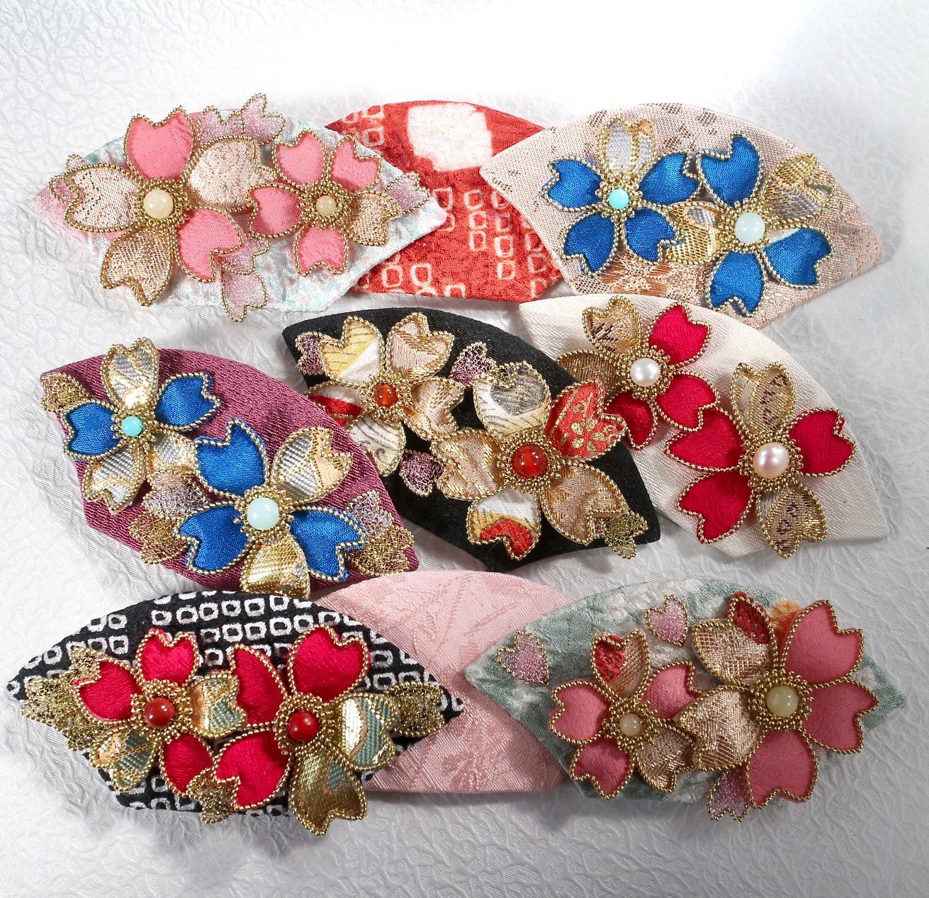 桜の髪飾り 帯留め